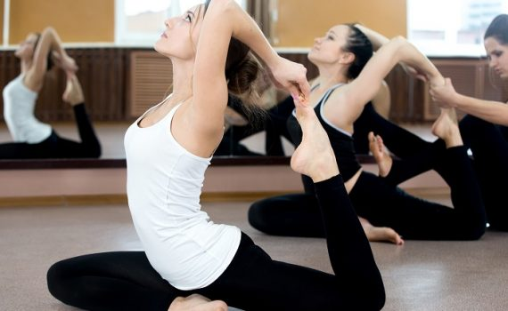 Yoga Exercise In Class