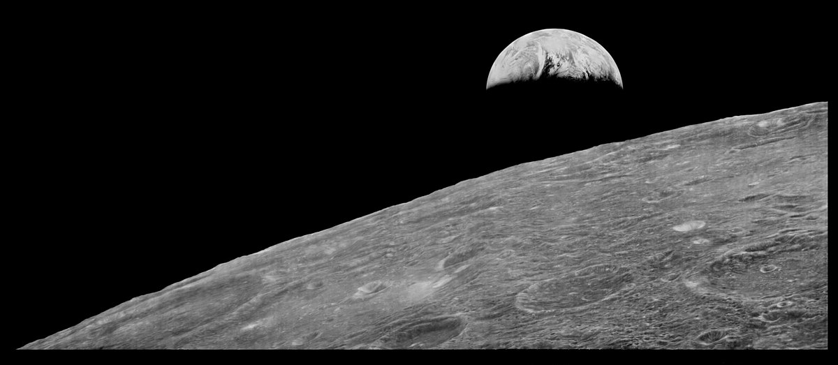 First View of Earth from Moon