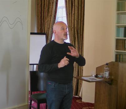 Richard Blacklaw-Jones Lecturing at Lampeter