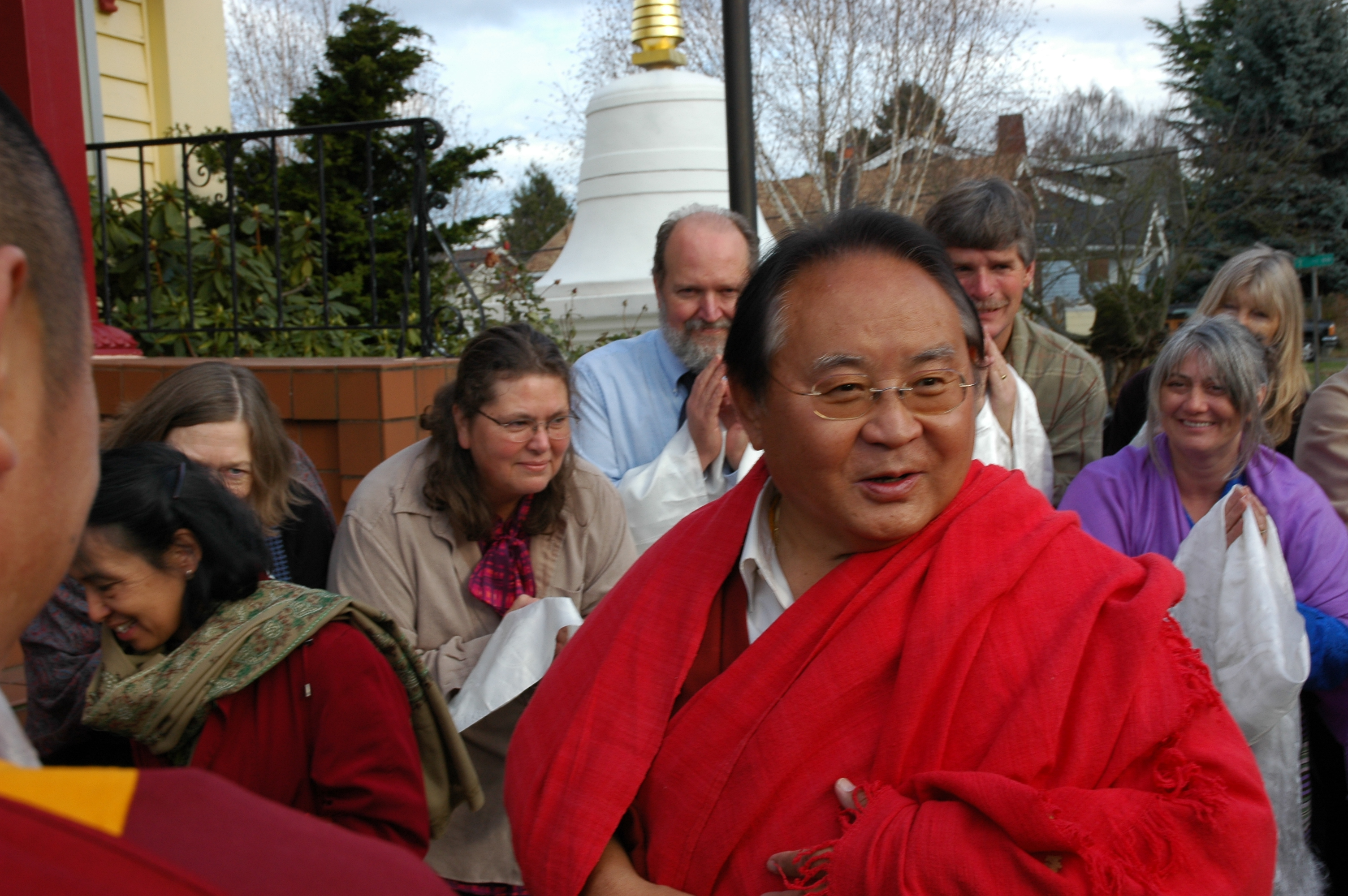 HE Sogyal Rinpoche arrives to speak about Buddhism, Seattle, Washington, USA